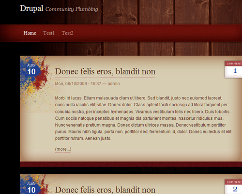 Absynthe free drupal themes
