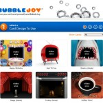 Bubble Joy: tarjetas gratis con un toque divertido