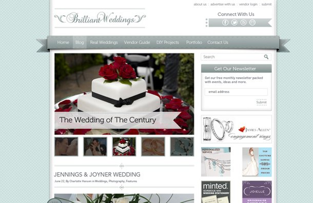 Brillant Weddings: elegante plantilla en PSD