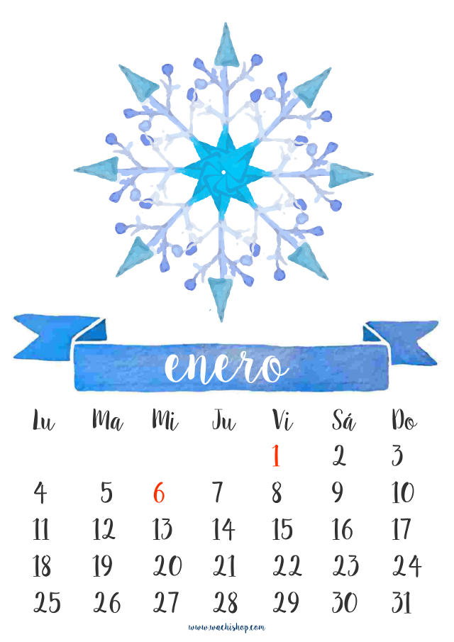 Hermoso calendario de pared para imprimir en 2016