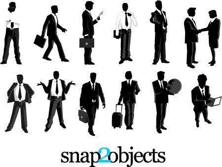 Siluetas de hombres de negocios 2
