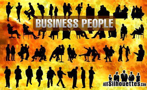 Siluetas de hombres de negocios 3