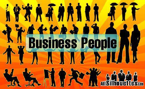 Siluetas de hombres de negocios 4
