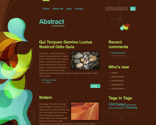 Abstract free drupal themes