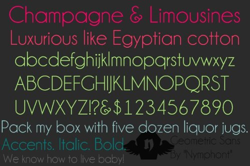 Champagne Limousines free fonts