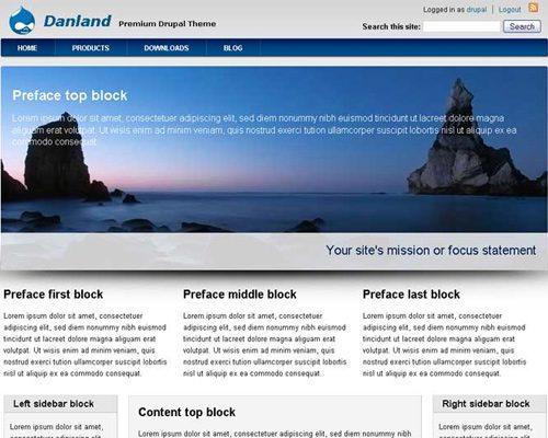 Danland free drupal themes