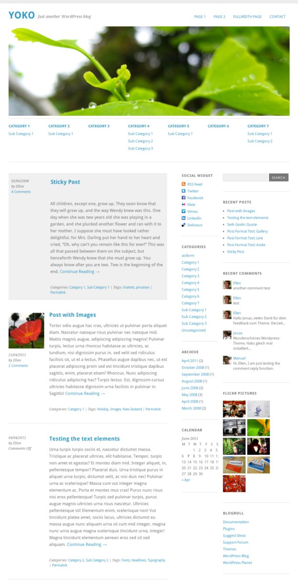 tema para wordpress