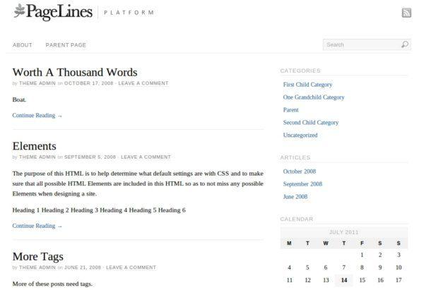 85 themes gratis para WordPress