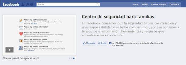 Facebook centro de seguridad para familias