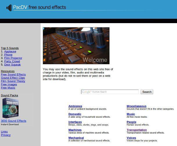 efectos de audio gratis