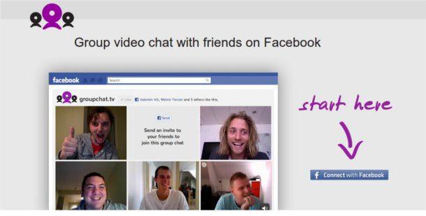 Chat grupal en Facebook