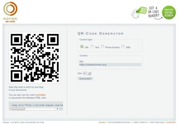 Generador  de código QR
