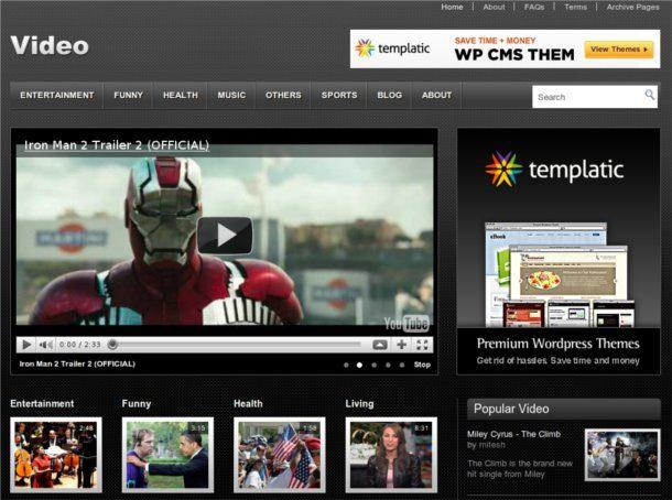 Themes de wordpress para videoblogs