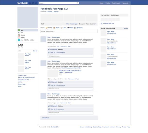 Plantilla de Facebook