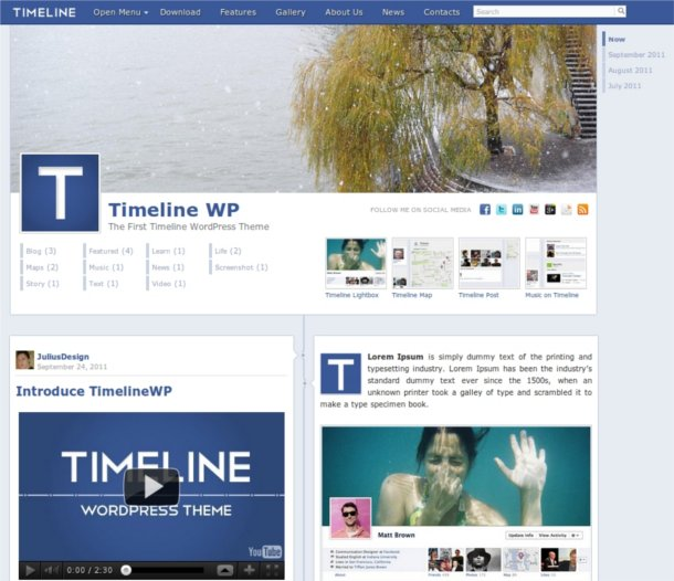 Theme WordPress estilo Facebook