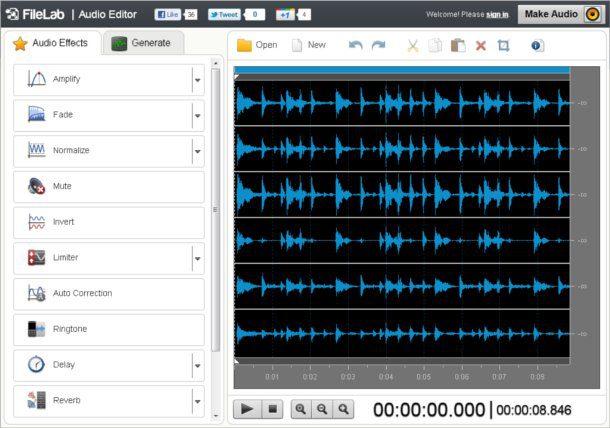 editor de audio online
