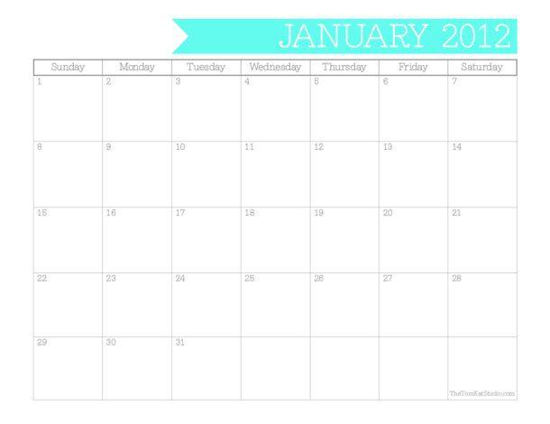 Imprimir calendario 2012