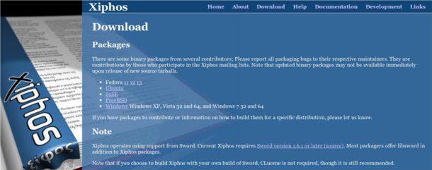 instalar Xiphos en Windows