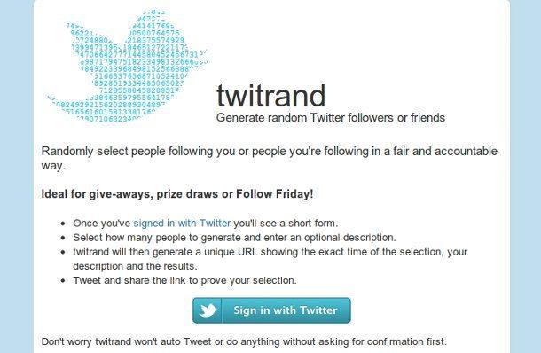 Crear concursos usando Twitter