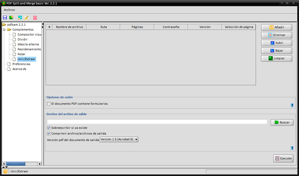 Unir archivos PDF