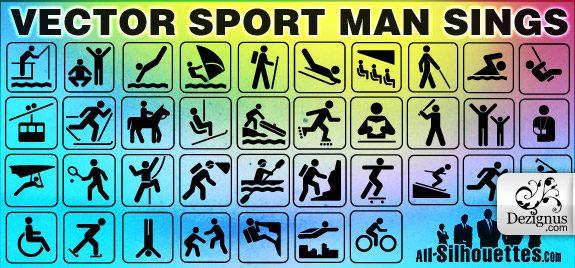 Siluetas de deportes