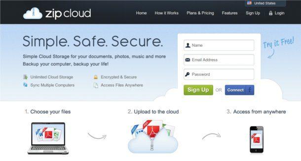 Almacenamiento en la nube con Zip Cloud