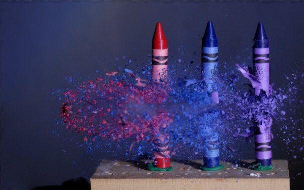 Fondos de crayola explotando