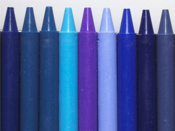 Fondos de crayola azul