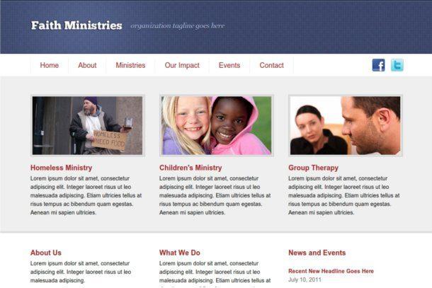 Plantilla para ministerio