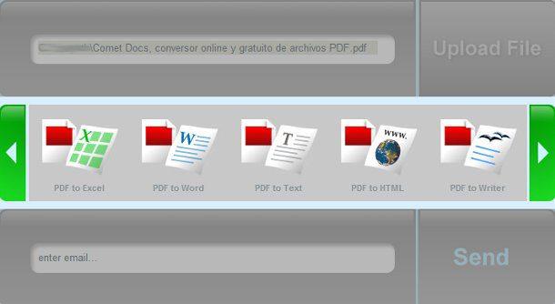 Convertidor PDF con Comet Docs