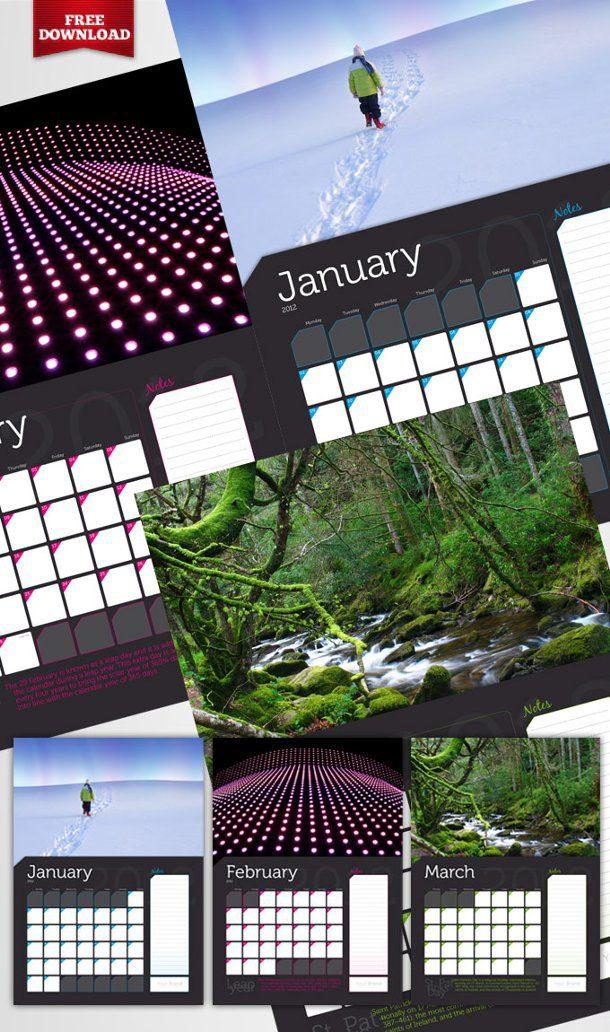Calendarios gratis en Adobe InDesign