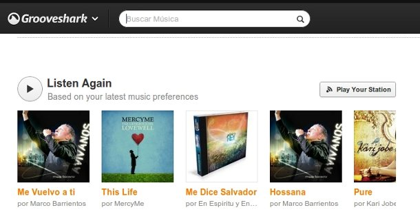 Listen again en Grooveshark