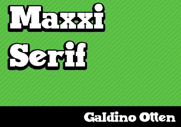 Maxxi serif