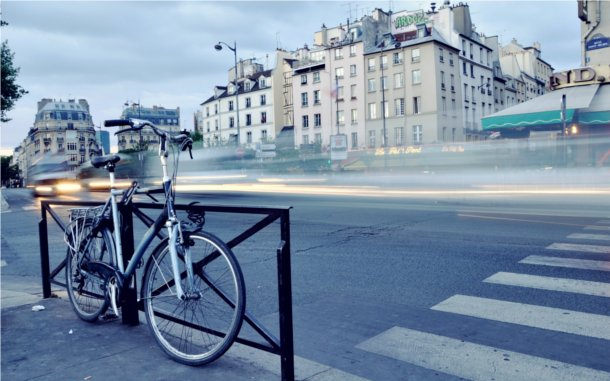 Bicicleta antigua en Londres