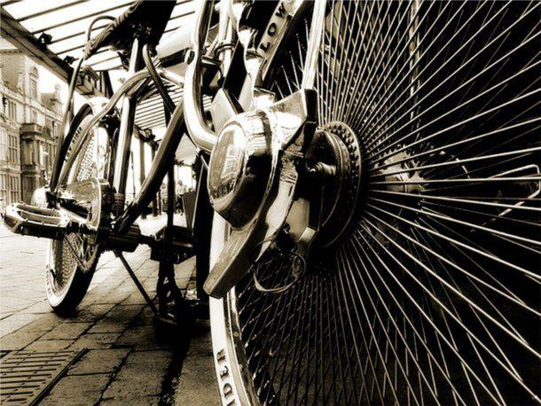 Bicicleta antigua efecto vintage