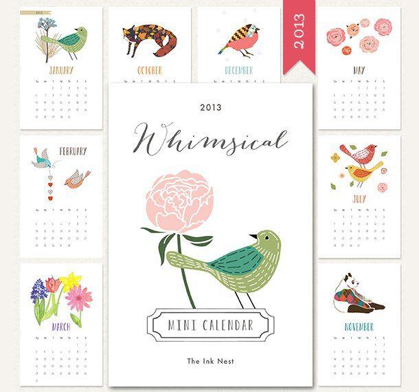 Mini calendario 2013