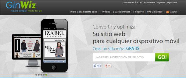 Crear sitio móvil gratis