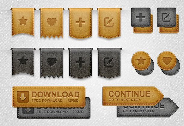 Emblemas y cintas en formato psd