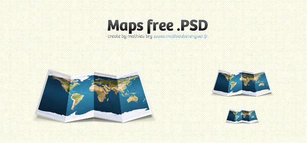Mapa gratis en PSD