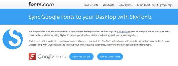Cliente de Google Fonts