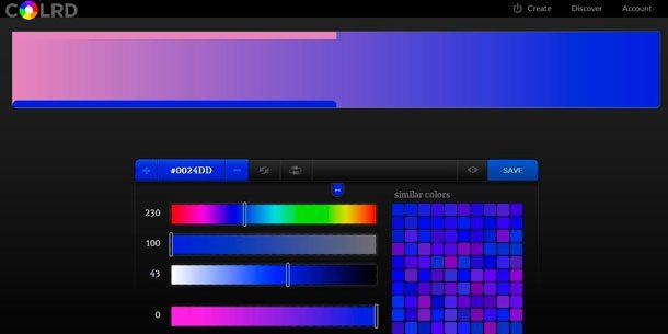 crear paletas de colores