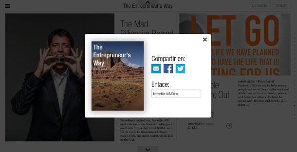 Botones de compartir en Flipboard