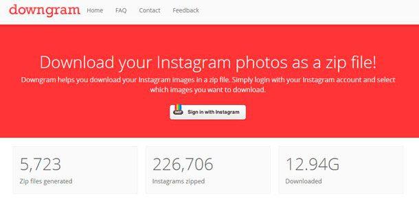 hacer un backup de tus fotos en Instagram