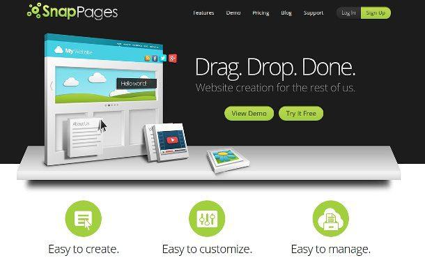 SnapPages - diseñar sitios web