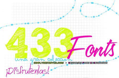 433 fuentes gratis