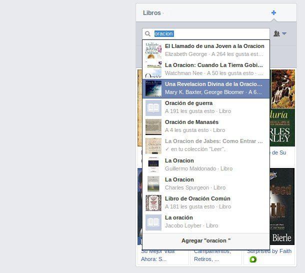 Agregar libros al Facebook