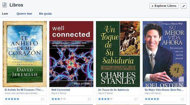 Calificar los libros en Facebook