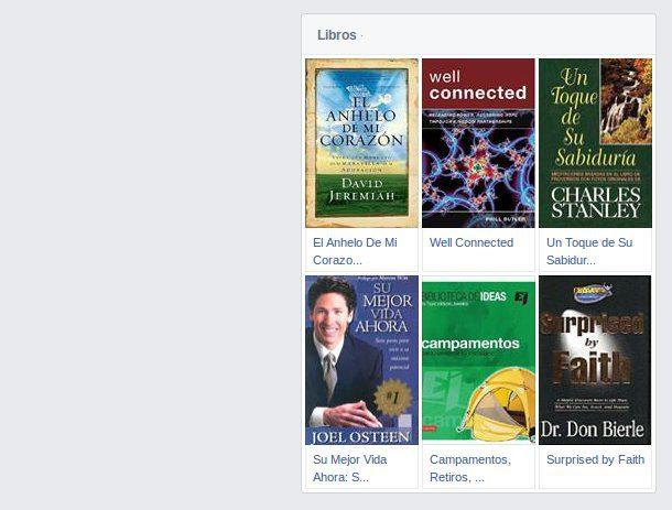 listado de libros en Facebook
