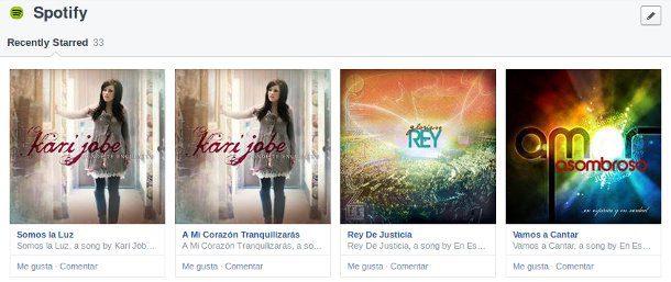 listado de musica en facebook