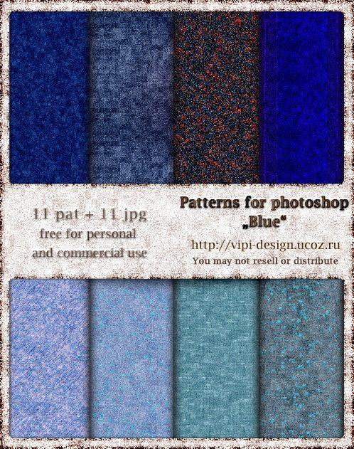 patrones azules para photoshop
